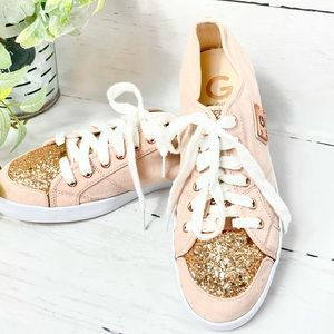 Guess Pink Suede Shoes- Size 9.5